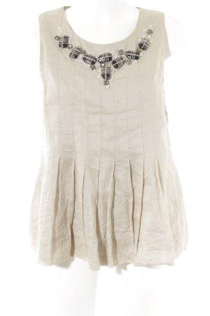Robert Rodriguez ärmellose Bluse beige klassischer Stil
