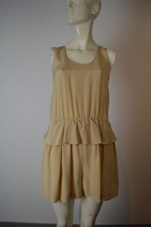 Robert Rodriguez Flounce Dress sand brown silk