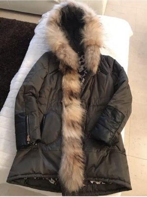 Roberta Biagi Fur Jacket black-khaki