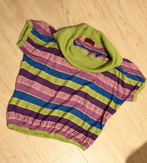 0039 Italy Short Sleeve Sweater multicolored
