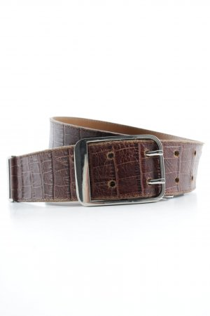 Roberto Bellido Leather Belt cognac-coloured classic style
