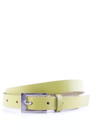 Roberto Bellido Cinturón de cuero amarillo limón elegante