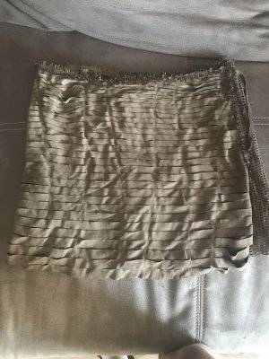 Roberto Cavalli Leather Skirt light brown-grey brown suede