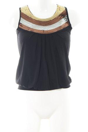 Roberto Cavalli Blouse topje zwart zakelijke stijl