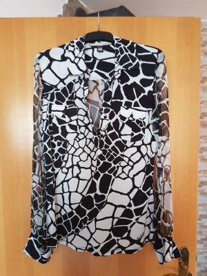 Roberto Cavalli Oversized blouse wit-zwart