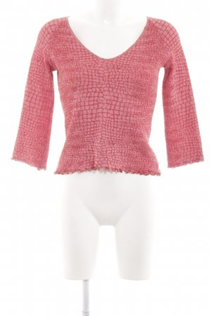 Roberto Cavalli Cropped Shirt rot-pink Allover-Druck Casual-Look