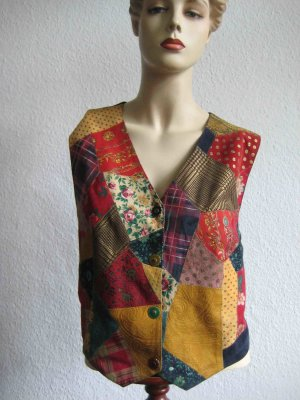 Roberto Cavalli Leather Vest multicolored