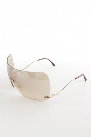 Roberto Cavalli Angular Shaped Sunglasses beige-bronze-colored extravagant style