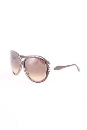 Roberto Cavalli eckige Sonnenbrille braun-dunkelbraun Animal-Look
