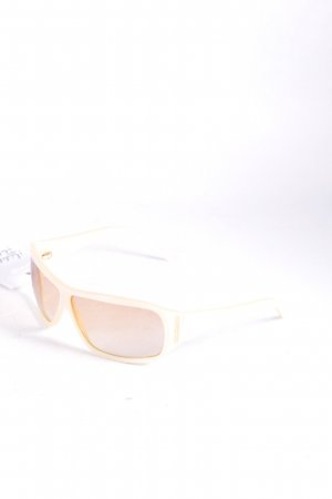 Roberto Cavalli eckige Sonnenbrille creme schlichter Stil