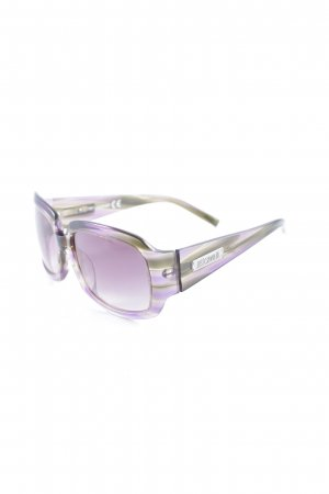 Roberto Cavalli eckige Sonnenbrille lila-grün klassischer Stil