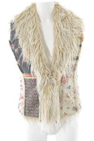 Roberto Cavalli Fur vest floral pattern extravagant style