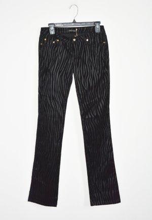 Roberto Cavalli Pantalón de cinco bolsillos negro tejido mezclado