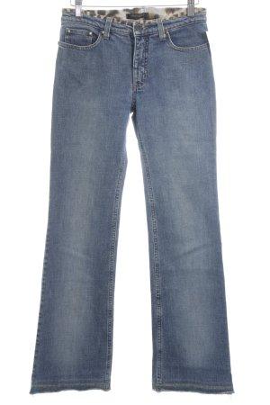 Roberto Cavalli Jeansschlaghose blau Animal-Look