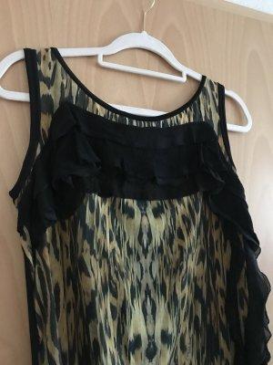 Roberto Cavalli A-lijn jurk zwart-goud