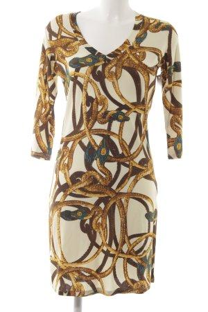 Roberto Cavalli Langarmkleid abstraktes Muster extravaganter Stil
