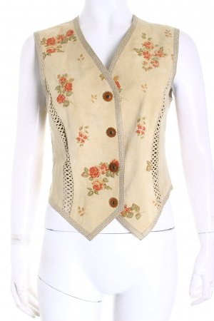 Roberto Cavalli Leather Vest flower pattern masculine look