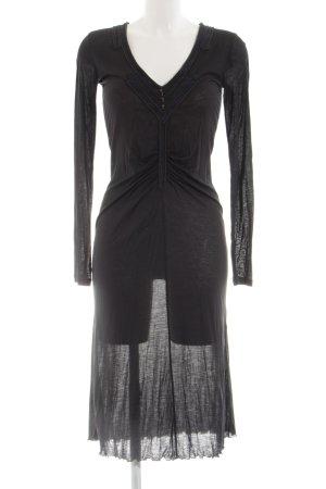 Roberto Cavalli Langarmkleid schwarz extravaganter Stil