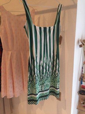Roberto Cavalli minikleid Kleid Neu 36 38 grün weiß
