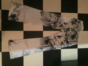 Roberto Cavalli Hoge taille jeans wit-neon blauw Katoen