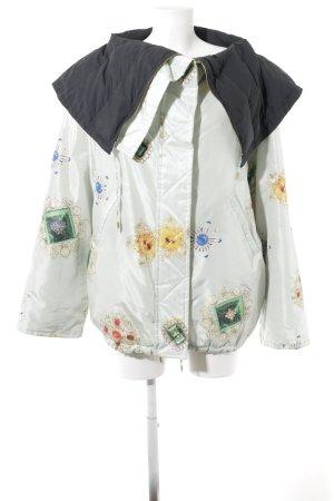 Roberto Cavalli Oversized Jacke babyblau Motivdruck extravaganter Stil