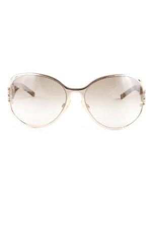 Roberto Cavalli Retro Brille goldfarben-dunkelbraun Animalmuster Elegant