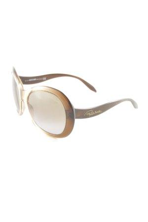 Roberto Cavalli runde Sonnenbrille braun-dunkelbraun Beach-Look