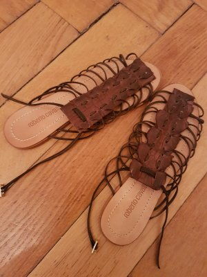 Roberto Cavalli Roman Sandals brown leather