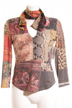 Roberto Cavalli Tie-neck Blouse abstract pattern extravagant style