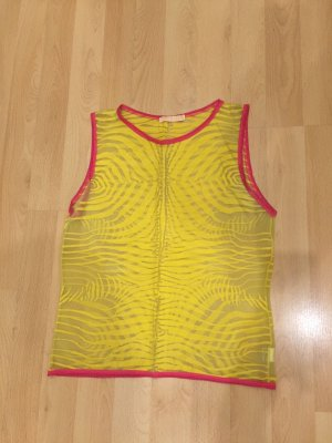 Roberto Cavalli Muscle Shirt yellow-raspberry-red