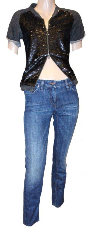 ROBERTO CAVALLI Skinny Jeans Gr. 34 blau Stretch