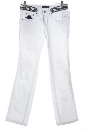 Roberto Cavalli Slim Jeans weiß-wollweiß extravaganter Stil