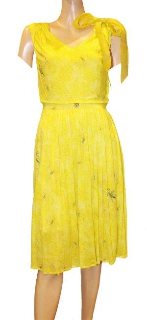 ROBERTO CAVALLI Sommer Kleid gelb Jersey Gr. 36/38