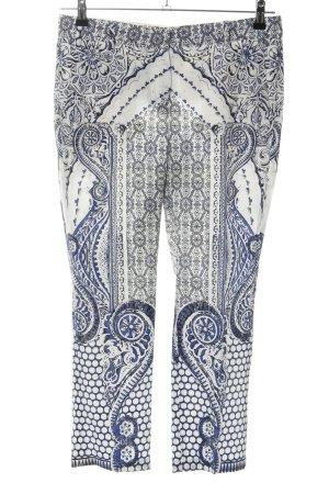 Roberto Cavalli Stoffhose blau-weiß abstraktes Muster Casual-Look