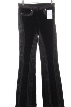 Roberto Cavalli Stoffhose schwarz extravaganter Stil