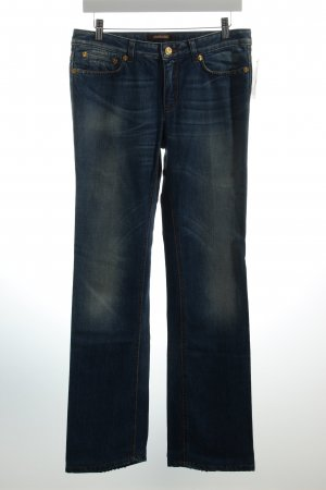 Roberto Cavalli Straight-Leg Jeans blau Used-Optik