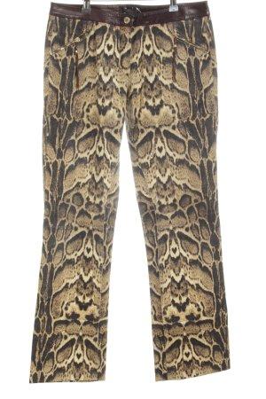Roberto Cavalli Straight-Leg Jeans dunkelbraun-goldorange Animalmuster