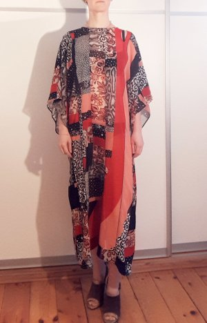 Roberto Cavalli Caftan multicolored silk