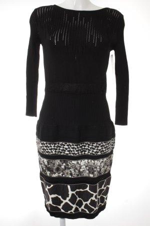 Roberto Cavalli Stretchkleid schwarz-weiß Mustermix extravaganter Stil
