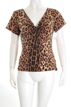 Roberto Cavalli T-Shirt Leomuster extravaganter Stil