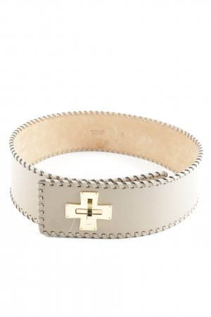 Roberto Cavalli Waist Belt beige embossed logo
