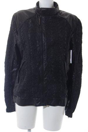 Roberto Cavalli Übergangsjacke schwarz Street-Fashion-Look