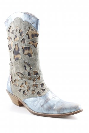 Roberto Cavalli Boots western motif léopard style campagnard