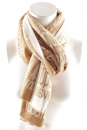Roberto Cavalli Wollschal beige-wollweiß Monogram-Muster Casual-Look
