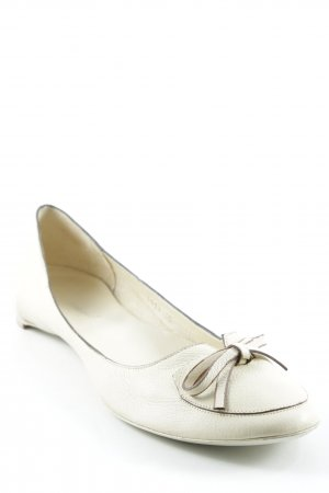 Roberto de Carlo Mary Jane Ballerinas pale yellow casual look