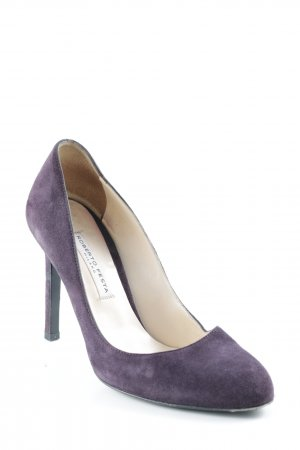 Roberto Festa High Heels dunkelviolett Business-Look