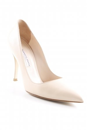 Roberto Festa Pointed Toe Pumps cream-brown business style