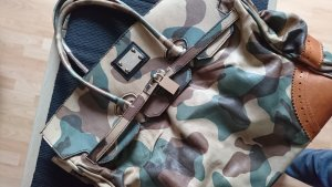 Roberto Geissini Monaco Handtasche Camouflage