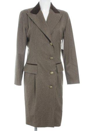 Roberto Quaglia Between-Seasons-Coat dark brown flecked elegant
