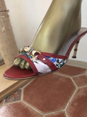 Sandales à talons hauts multicolore
